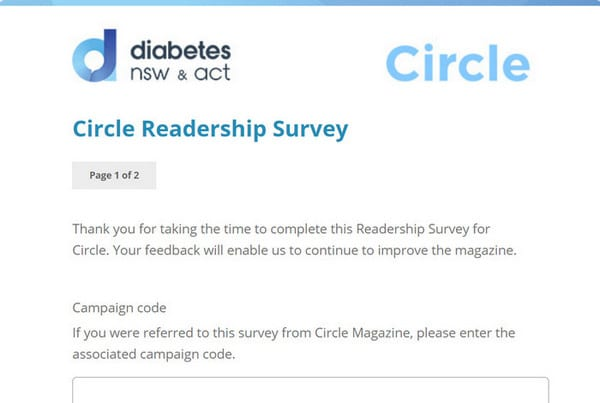 Diabetes NSW & ACT using a survey in event solutions software