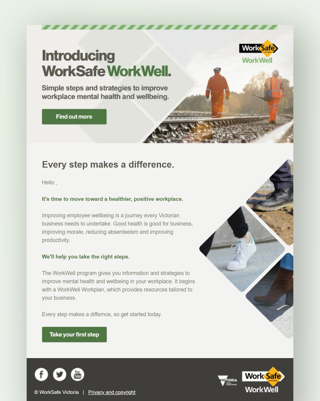WorkSafe Victoria - WorkWell Email