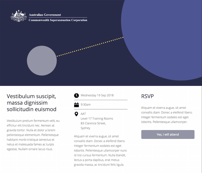 Commonwealth Superannuation Corporation landing page