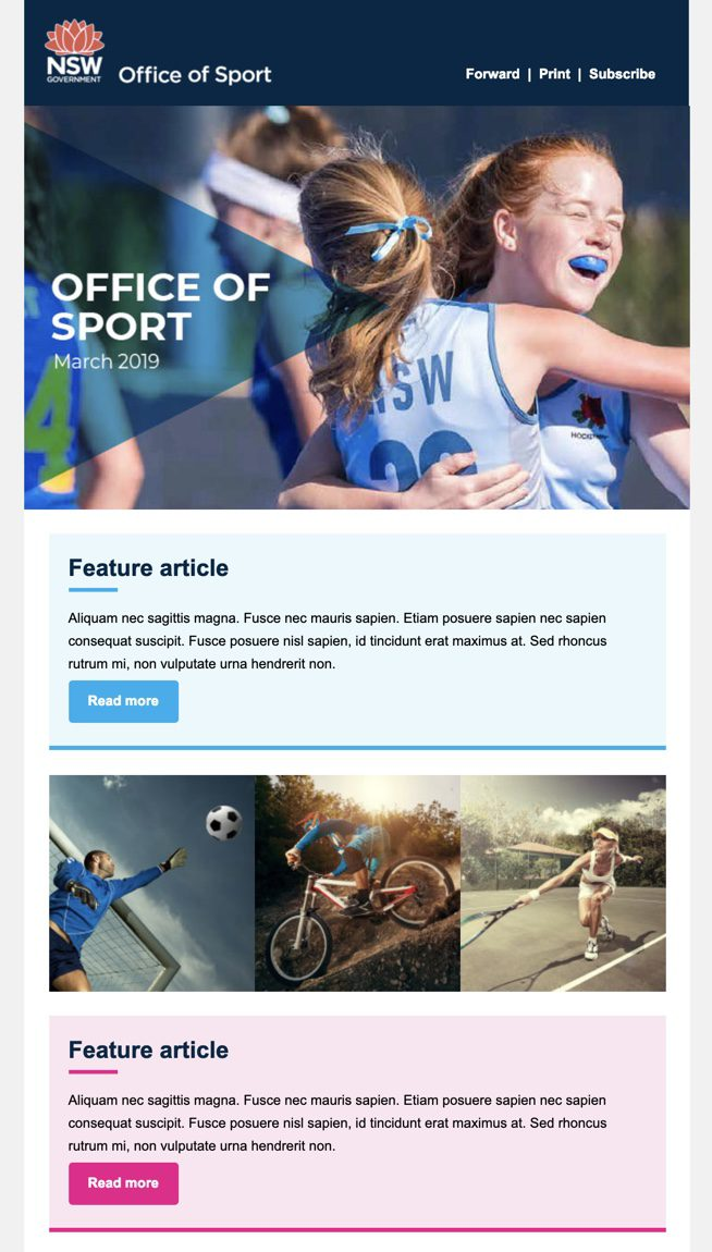 office of sport newsletter